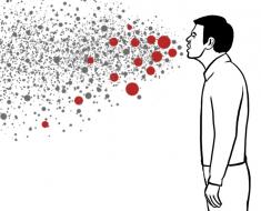 Распространение инфекции воздушно-капельным путем