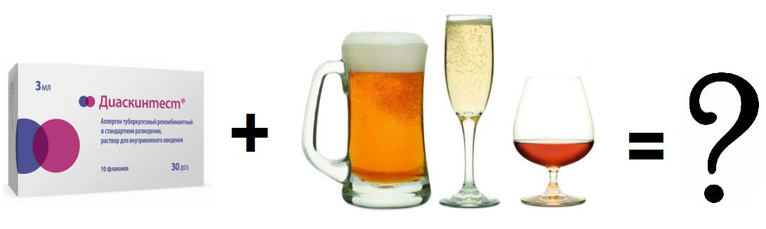 Совместимость диаскинтеста с алкоголем