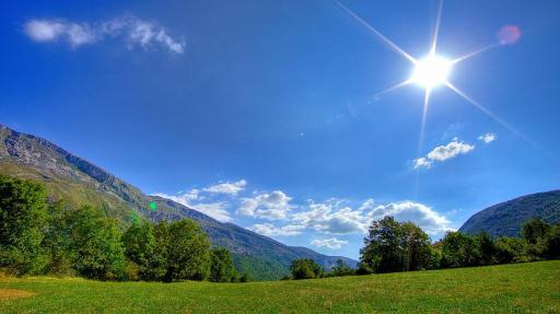 Прямы солнечные лучи